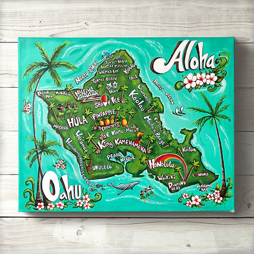 Original Map of Oahu