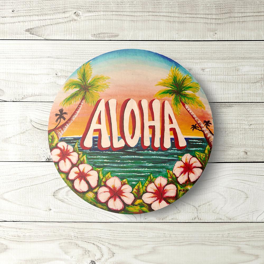 Aloha Circle Sign