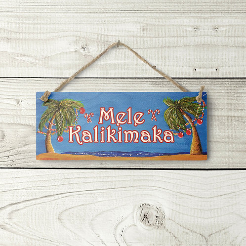 Small Mele Kalikimaka Sign