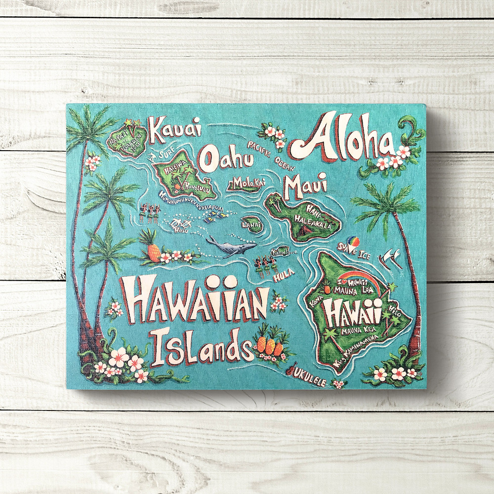8x10 Hawaiian Islands Sign