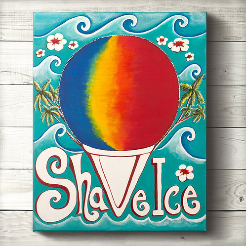 Shave Ice Canvas Print