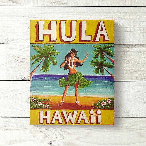 8x10 Hula Sign