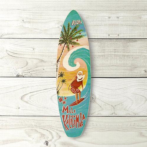 Surfing Santa Surfboard