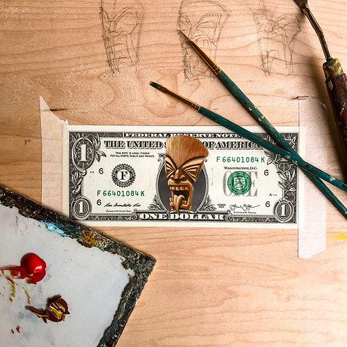 Original Tiki Dollar Painting
