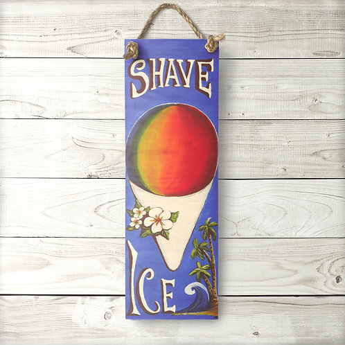 Large Shave Ice Sign