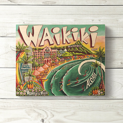 8x10 Waikiki Sign