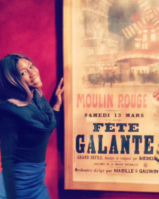Anne at the world famous Moulin Rouge in Paris, France