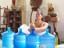 water blessing Surya