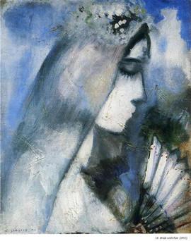 Марк Шагал. Невеста с веером.jpg