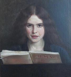 Юдель Пэн. Портрет девушки с журналом.jp