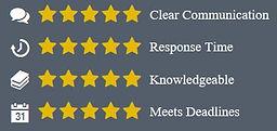 Jarrett Silver silverlegal UpCounsel Reviews 5/5 stars in 4 Categories