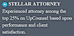 Jarrett Silver silverlegal startup and patent attorney UpCounsel Stellar Attorney Badge
