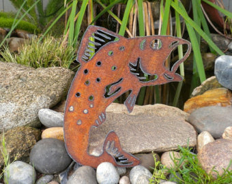Jumpin' Fish Metal Art