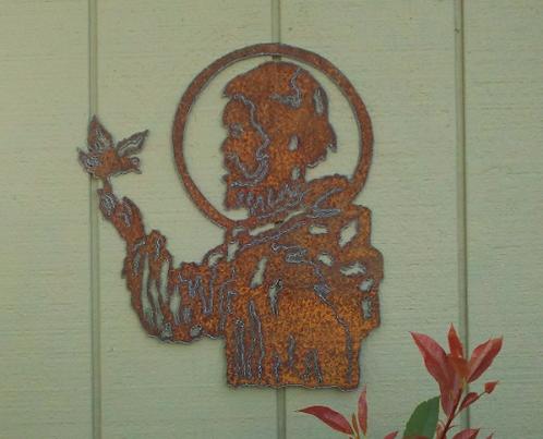 St. Francis Rusty Metal Garden Art