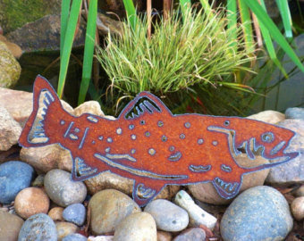 Swimmin' Fish Metal Art