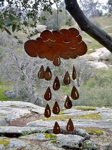 Clouds & Raindrops Wind Chime