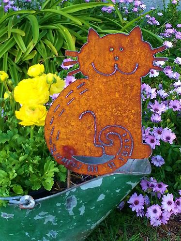 Metal Happy Cat