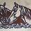Thumbnail: Horse Heads Rusty Metal Wall Hanging