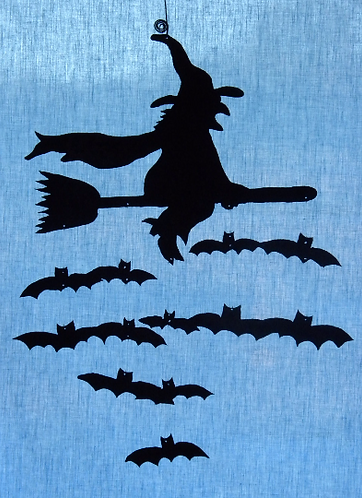 Witch & Bats Wind Chime