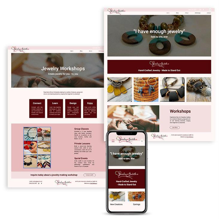 בניית אתר בוויקס למעצבת תכשיטים בעבודת יד