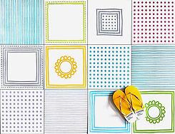 סקיצה - אריחים מצויירים בצבעים שמחים אנטיסליפ