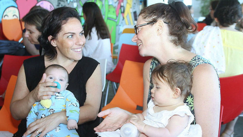 Women and babies at Google Campus for Moms