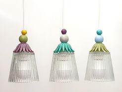 """מנורות צבעוניות למטבח ופינת אוכל  260 ש""""ח כל אחת"""