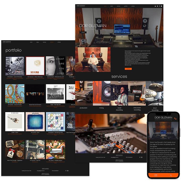 לבנות אתר בוויקס למפיק מוזיקה