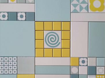 """אופציה 3 - ריבועים 20X20 ס""""מ בדוגמאות שונות למטבח"""