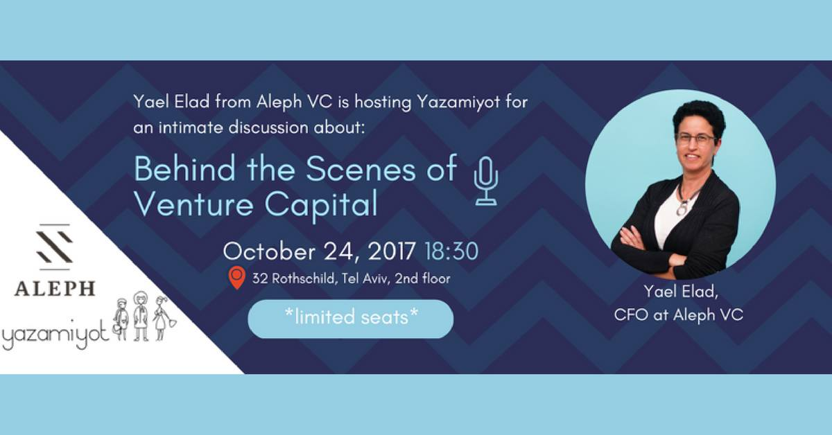 Invitation to the lecture: Behind the Scenes of Venture Capital