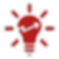 Lightbulb with upwards arrow icon