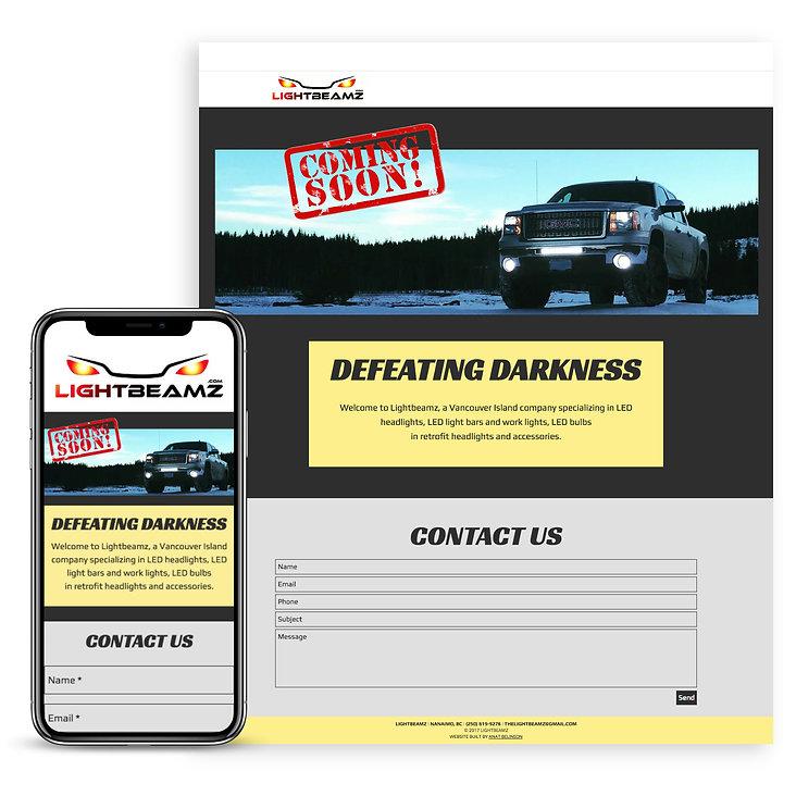אתר לחברה למכירת נורות לרכבים