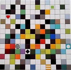 משחק מדליק באריחים קטנים 5/5 בצבעים שונים