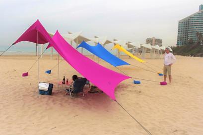 Family Beach Tent Canopy Canopy with Sandbag Anchors