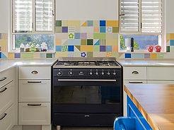 דוגמאות גאומטריות, עיצוב פנים תמי שלוש במטבח בפרדס-חנה