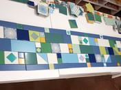 תמונה מורכבת מאריחים בגדלים שונים למטבח בחריש