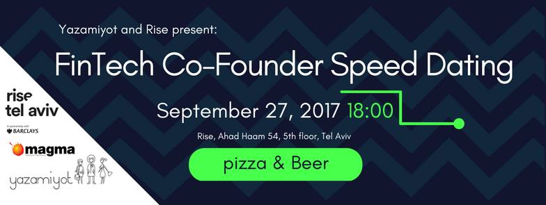 Invitation to the event: FinTech Co-Founder Speed Dating