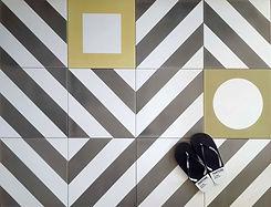 סקיצה - דוגמאות גיאומטריות לריצוף ולחיפוי באמבטיה ובמטבח