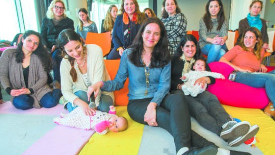 Mothers and babies at Google Campus TLV