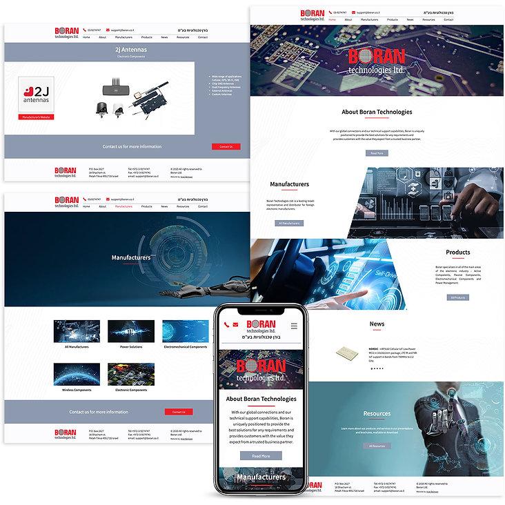 אתר באנגלית בוויקס לחברת טכנולוגיה