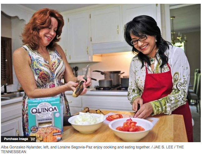 Immigrants bond in kitchen