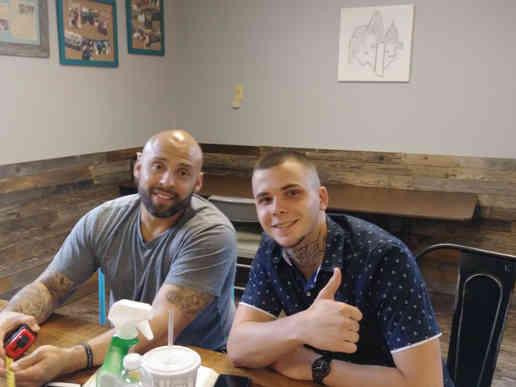 Jeremais and Josh mentor meeting at Jail To Jobs