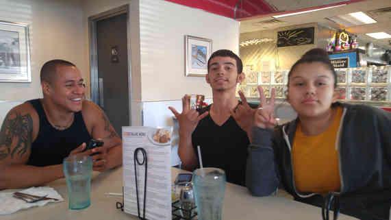 Abel, Tony, and Andrea at Jail To Jobs