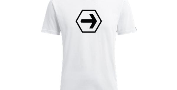 White Athletic Tee - Small Logo