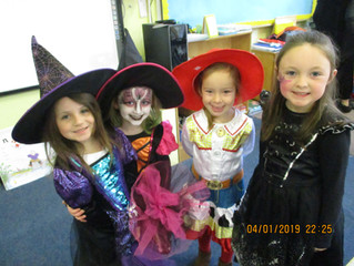 Spooky dress up in Ms.Kerrigan's class