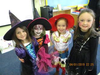 Spooky dress up in Ms.Kerrigan's class