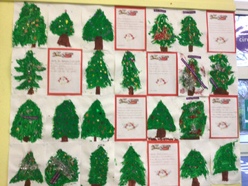 Christmas trees and Reindeer in Ms.Gallagher's class