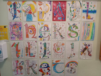 Celtic Letters in Ms.Eleanor's Room