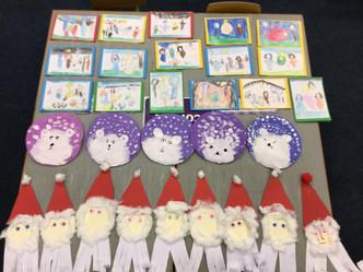 Cards, Santas and Polar Bears in Ms.Kerrigan's class