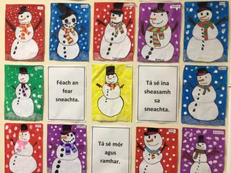 Snowmen in Ms.Anne/Ms.Bonner's class